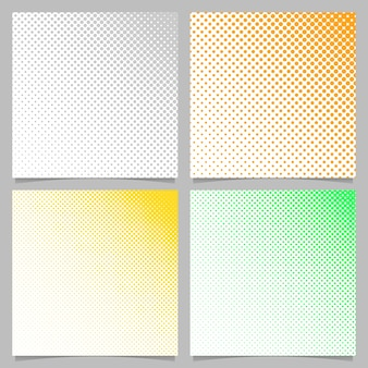 Abstract halftone circle pattern background set - vector stationery illustration with dots