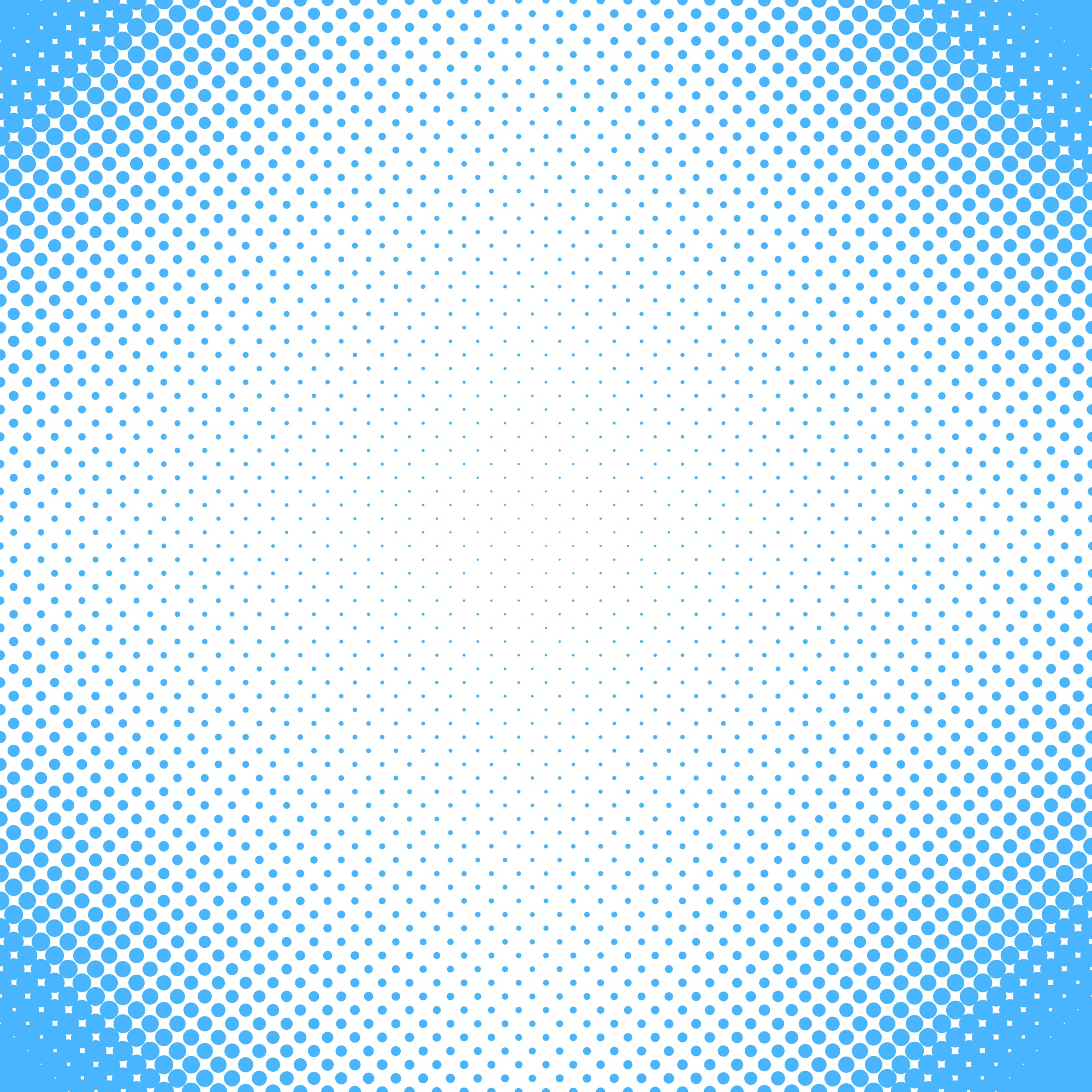 Abstract halftone dot pattern background - vector design from circles in varying sizes