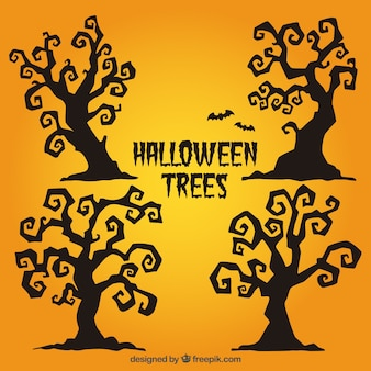 Abstract halloween trees