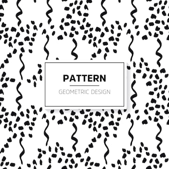 Abstract hand drawn black and white pattern