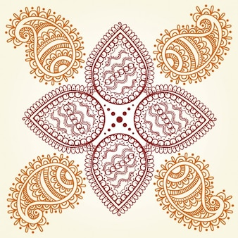 Abstract Hindu Ornament