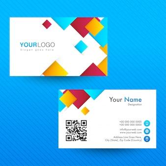 Abstract horizontal Business Card or Visiting Card.