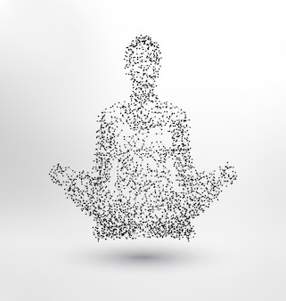 Abstract human meditating