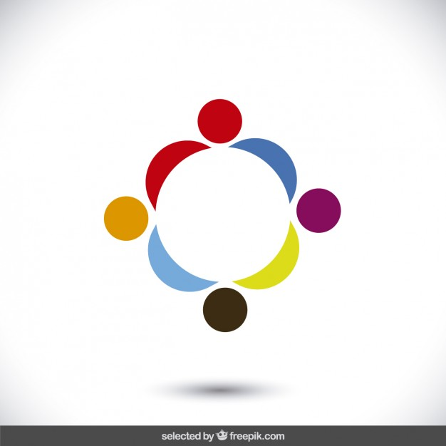 Abstract human silhouettes logo