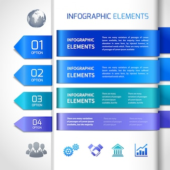 Abstract infographics design elements