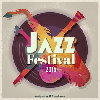 Abstract jazz festival poster