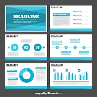 Abstract light blue business presentation