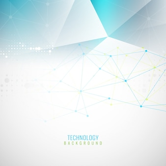 Abstract light blue polygonal background