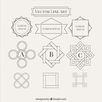 Abstract line shapes collection