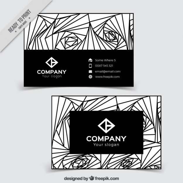 Abstract lines business card
