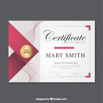Abstract lines certificate