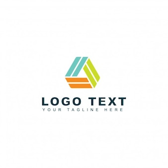 Abstract logo in three colors