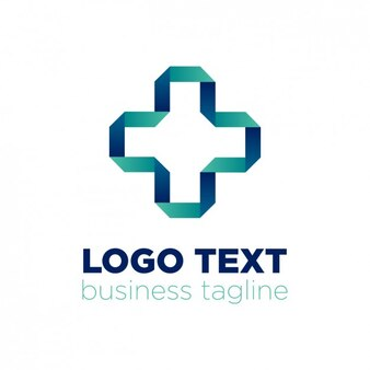 Abstract logo y origami style