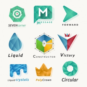 Abstract logos made of polygons