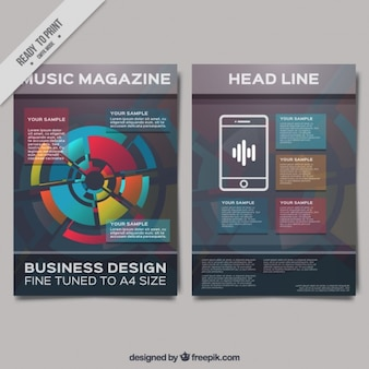 Abstract magazine with colored chart