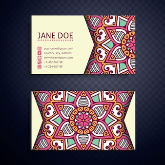 Abstract mandala business card