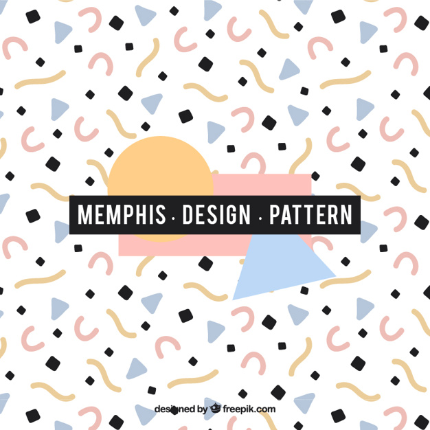 Abstract memphis style pattern