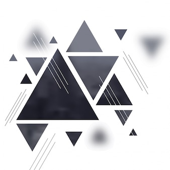 Abstract minimilistic background with grey triangles on white background.