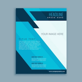 Abstract modern brochure of business with shapes