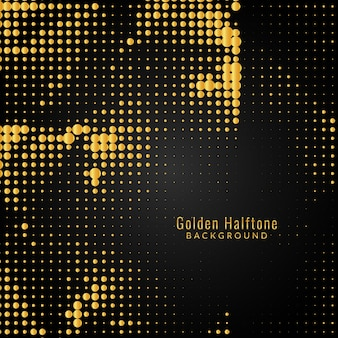 抽象的なモダンなゴールデンハーフトーン
