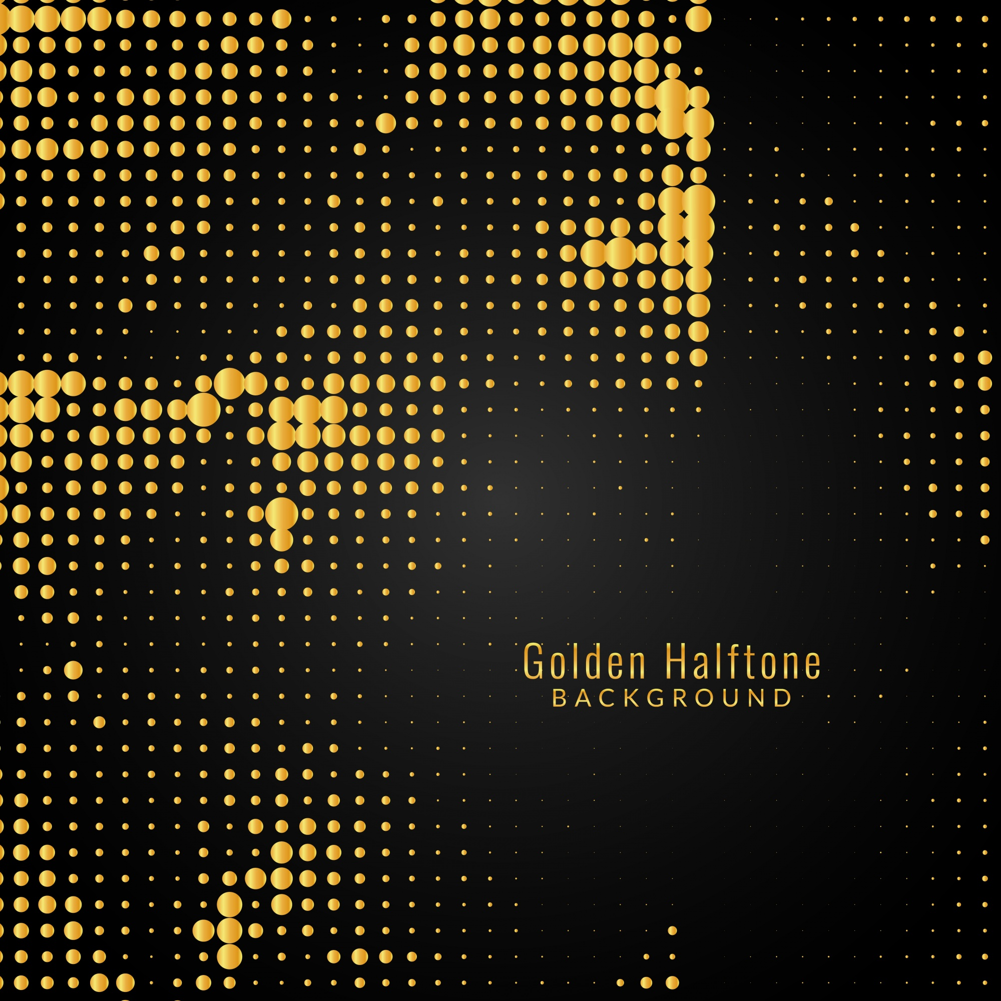 Abstract modern golden halftone background