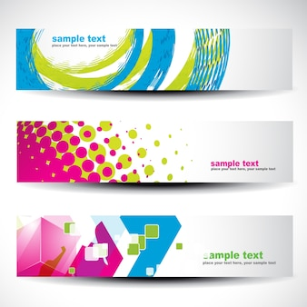 Abstract modern headers