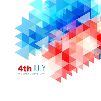 Abstract modern independence day design