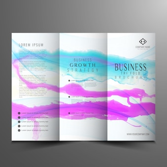 Abstract modern trifold business brochure design
