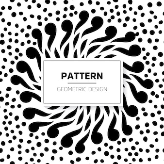 Abstract monochrome pattern