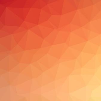 抽象的なモザイクの背景。三角幾何学的背景。デザイン要素。ベクトル図。イエロー、オレンジ、レッドの色。