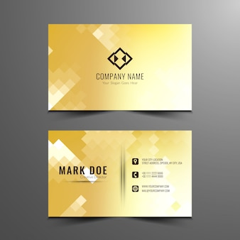 Abstract mosaic pattern business card