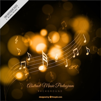 Abstract music background with bokeh effect