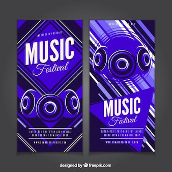 Abstract music festival banners