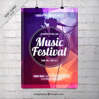 抽象的な音楽祭のポスターテンプレート