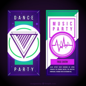 Abstract music party brochures