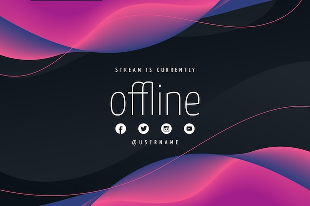 Abstract offline twitch banner template