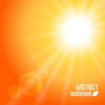 Abstract orange background with rays