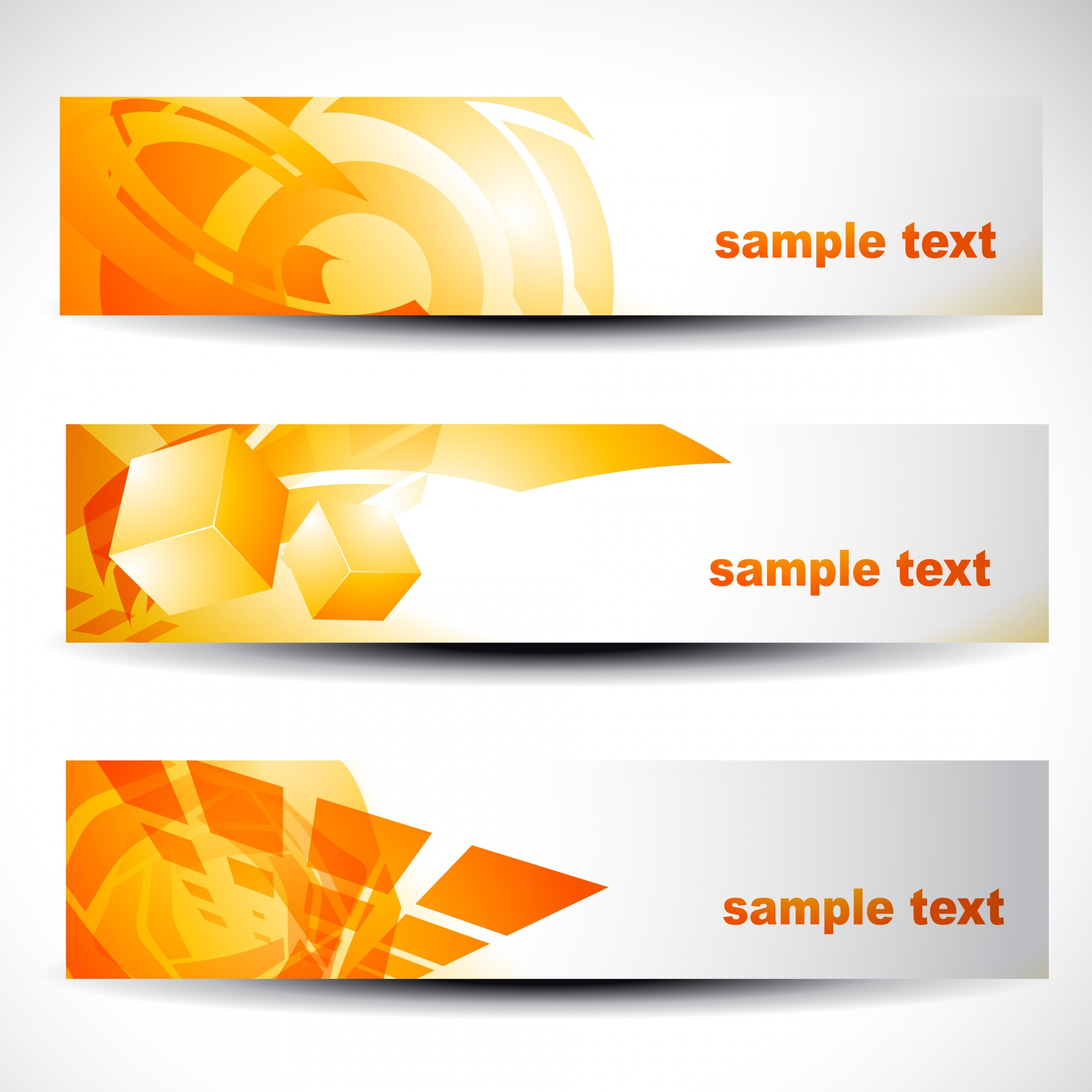 Abstract orange banners