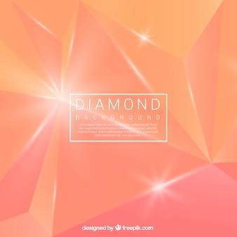 Abstract orange diamond background