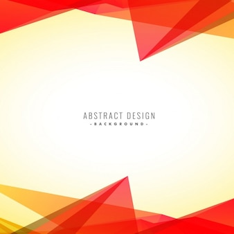 Abstract orange triangles background