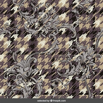 Abstract ornamental background with houndstooth