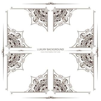 Abstract ornamental frame design