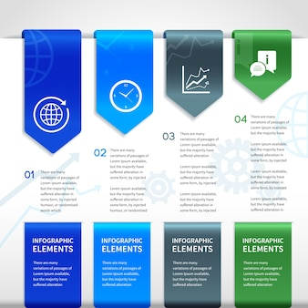 Abstract paper business infographics elements