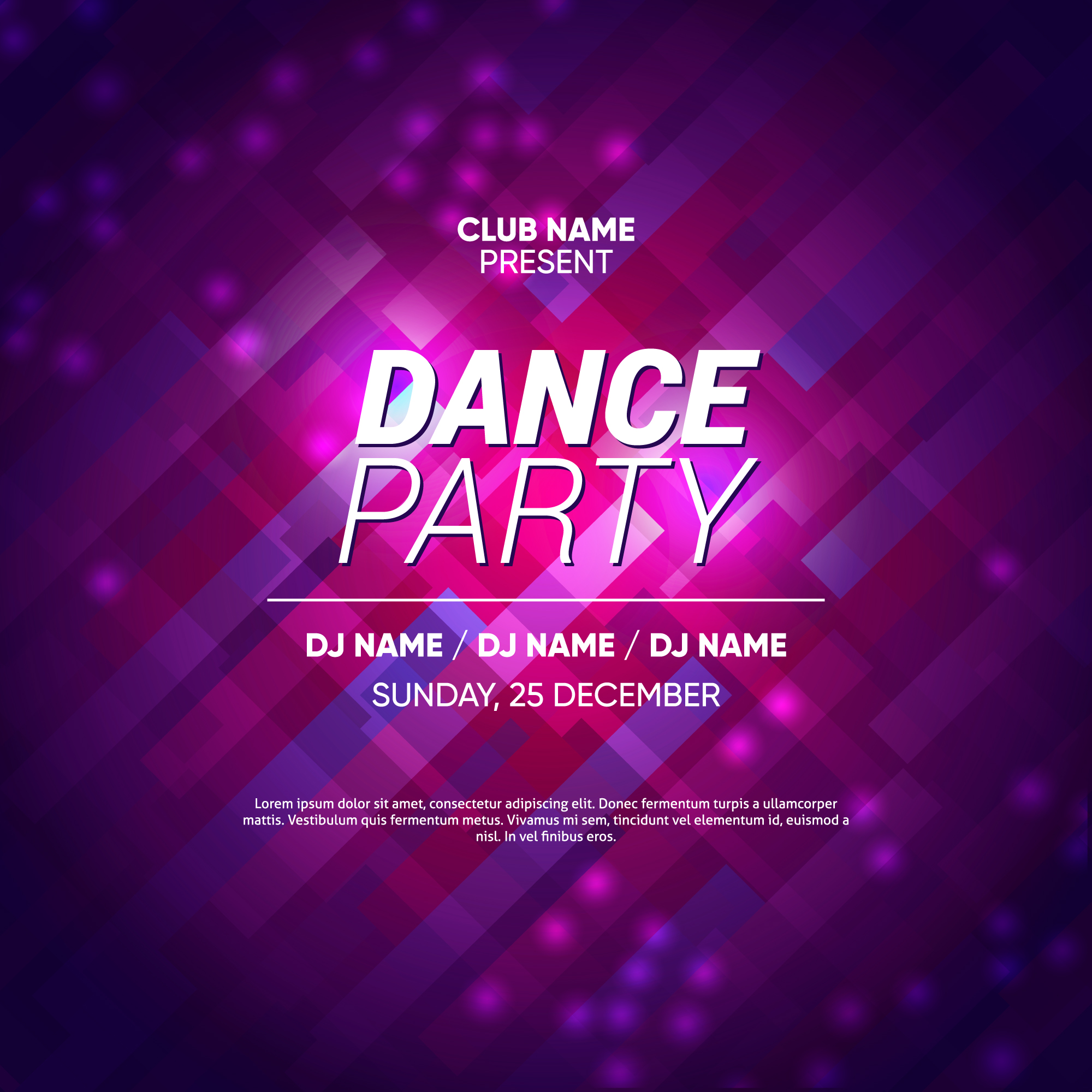 Abstract Party Background Template