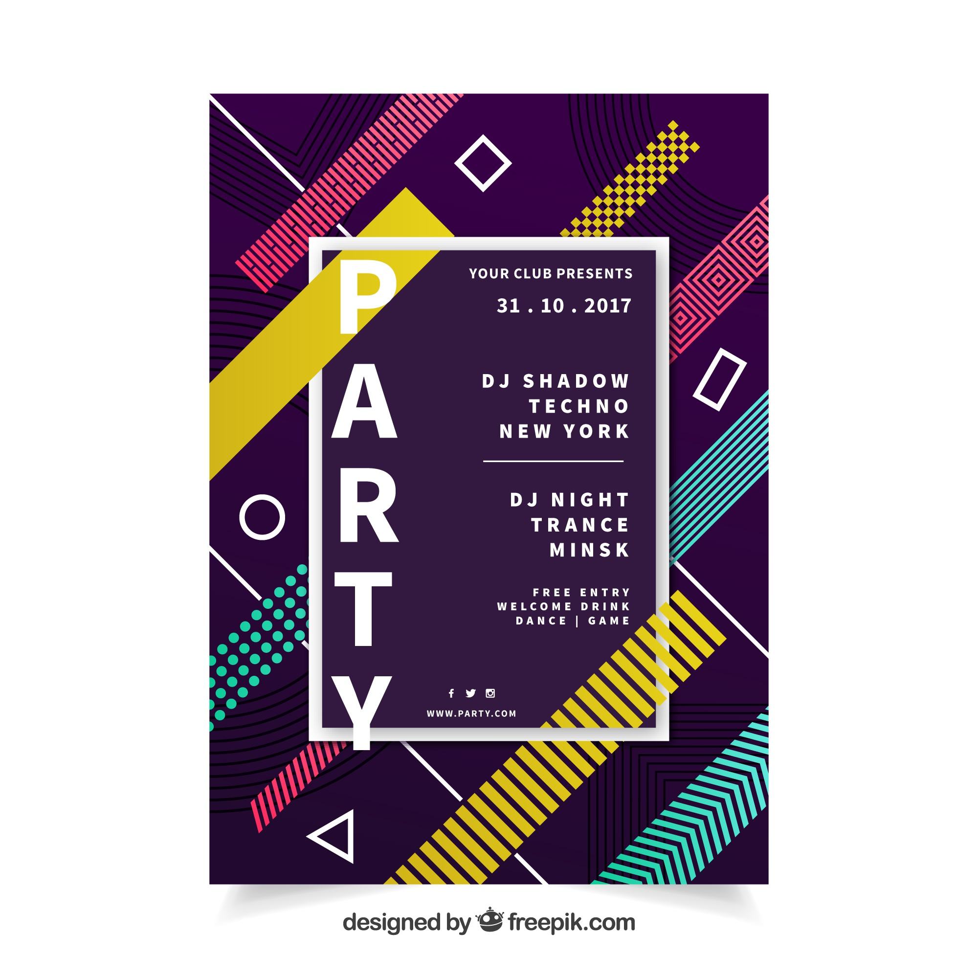 Abstract party poster with elegant style