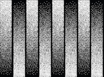 Abstract pattern of black and white dots