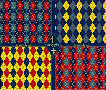 Abstract patterns set made with argyles