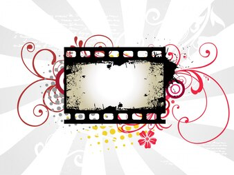 Abstract photo reel frame design