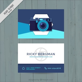 Abstract photo studio card