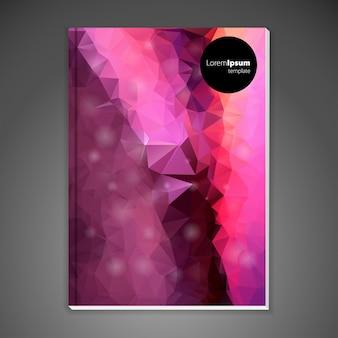 Abstract pink polygonal brochure